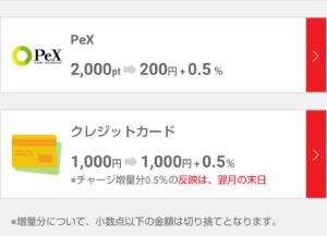 Pollet(ポレット)チャージ方法(Pex、クレジットカード)