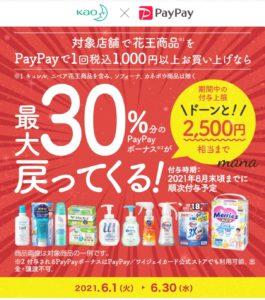 花王×PayPay 最大30%戻ってくるキャンペーン